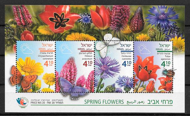 filatelia flora Israel 2018
