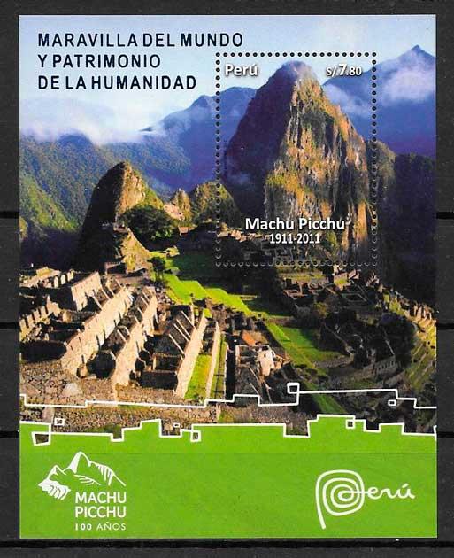 filatelia arquitectura Perú 2010