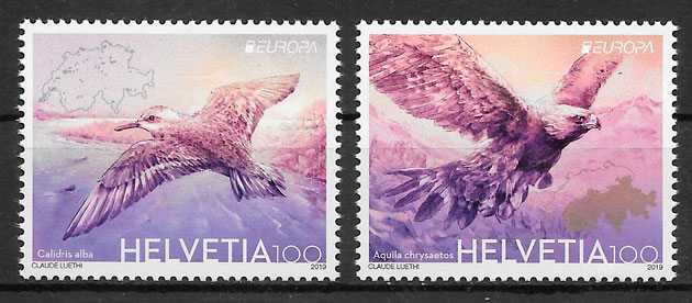 sellos Europa Suiza 2019