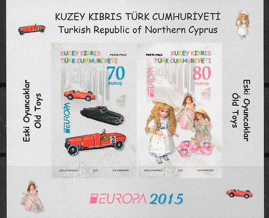 filatelia Europa Chipre Turco 2015