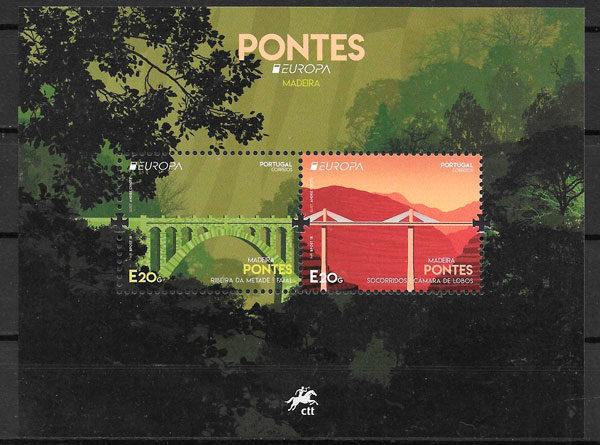 colección sellos Europa Portugal Madeira 2018