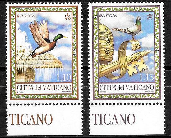 colección sellos Europa Vaticano 2019