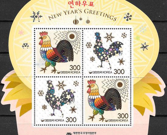 sellos año lunar Corea del Sur