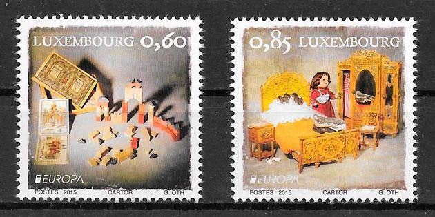 filatelia colección tema Europa Luxemburgo 2015