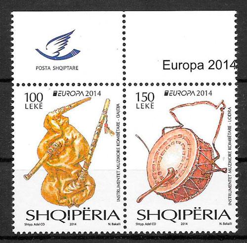filatelia Europa Albania 2014