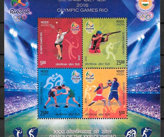 sellos olimpiadas India 2016