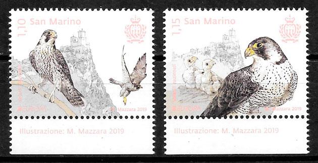 filatelia colección Europa San Marino 2019