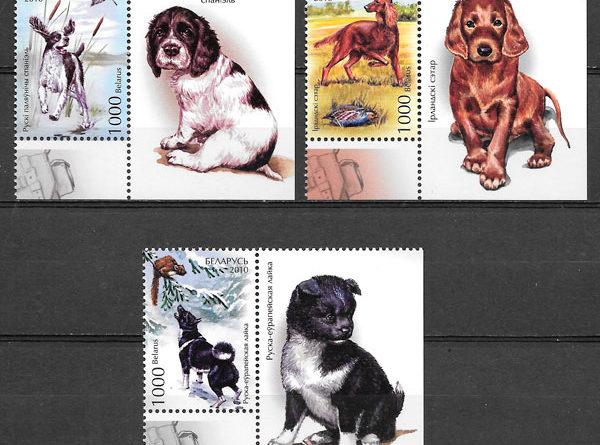 filatelia perros Bielorrusia 2010
