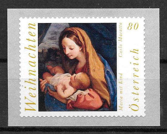 sellos navidad Austria 2017
