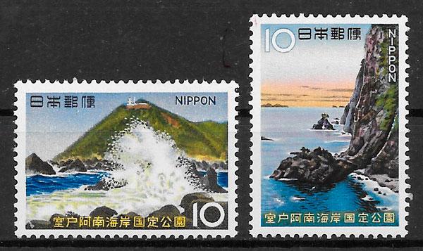 filatelia parques nacionales Japón 1967