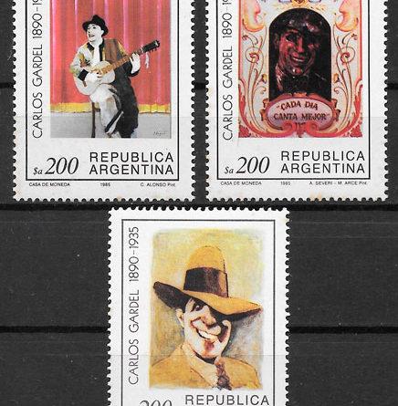 sellos arte Argentina 1985